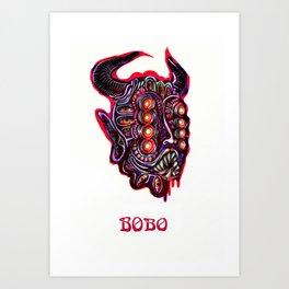 Masked Bobo Art Print