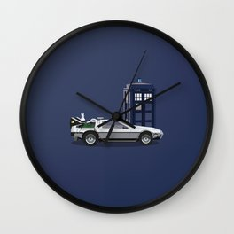 Doc and the Doctor Wall Clock