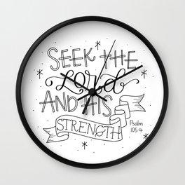 Seek the Lord Wall Clock