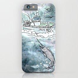 Fishing swordfish iPhone Case