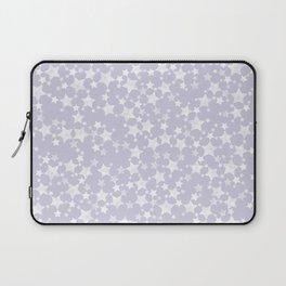 Block Printed Dusty Purple and White Stars Laptop Sleeve