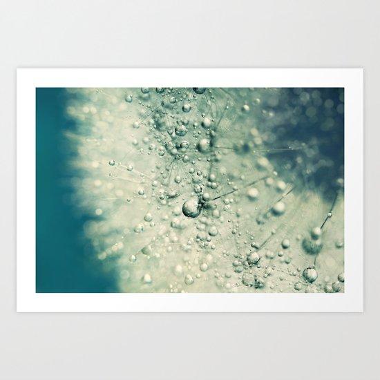 Denim Dandy Drops Art Print