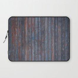 Vintage Wood background - photo wallpaper blue Laptop Sleeve
