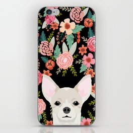 Chihuahua face floral dog breed cute pet gifts pure breed dog lovers chihuahuas iPhone Skin
