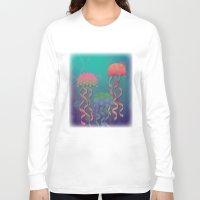 polka dot Long Sleeve T-shirts featuring Polka Dot Jellyfish by Graphic Tabby