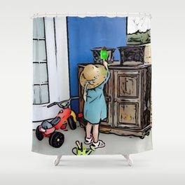 Little Girl Fun Day Shower Curtain