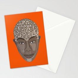 brown visage Stationery Cards