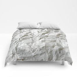 Crinkled Blues Comforters