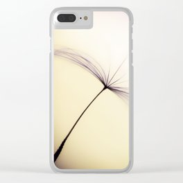 Whispered Wishes on a Dandelion Seed Clear iPhone Case