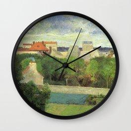 """Paul Gauguin - The Market Gardens of Vaugirard """"Les Maraîchers de Vaugirard"""" (1879) Wall Clock"""