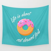 dessert Wall Tapestries featuring Dessert by ministryofpixel
