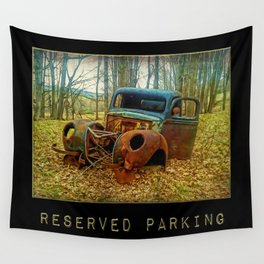 Reserved Parking ~ Vintage Truck ~ Ginkelmier Inspired Wall Tapestry