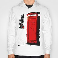 telephone Hoodies featuring telephone box by Lued