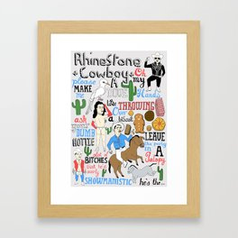 Illustrated song lyrics Framed Art Print