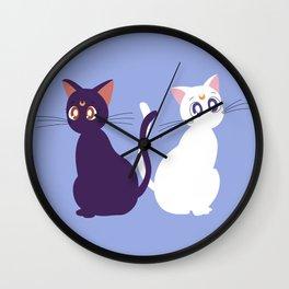 Luna & Artemis - Blue Wall Clock