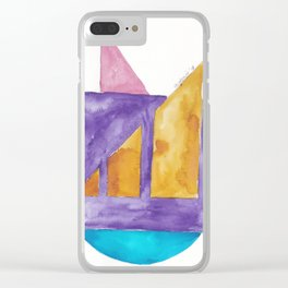 180818 Geometrical Watercolour 2| Colorful Abstract | Modern Watercolor Art Clear iPhone Case