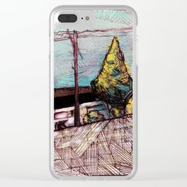 Street Sketch Clear iPhone Case
