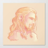 fili Canvas Prints featuring Fili ColorPalette by AlyTheKitten