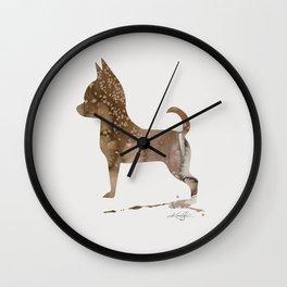 Watercolor Chihuahua No. 2 by Kathy Morton Stanion Wall Clock