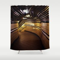 christopher walken Shower Curtains featuring Christopher Street by Michael S.