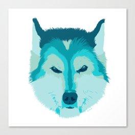 husky - wht Canvas Print