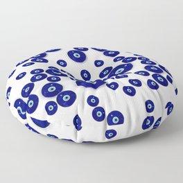 Greek Blue Glass Evil Eye Amulet Floor Pillow