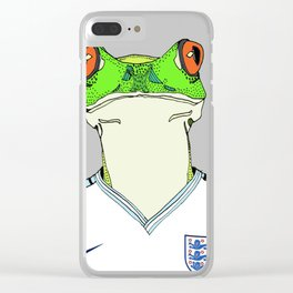 Football Frog Clear iPhone Case