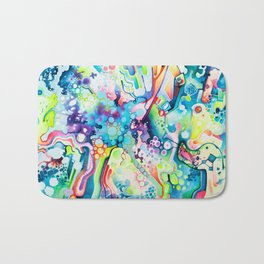 Parts of Reality Were Missing, But Which Parts? - Watercolor Painting Bath Mat