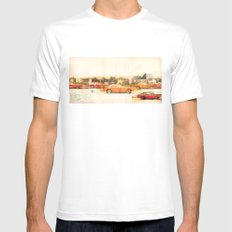 automatic Mens Fitted Tee SMALL White
