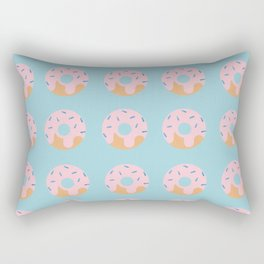Sweet Doughnuts with Pink Frosting Rectangular Pillow