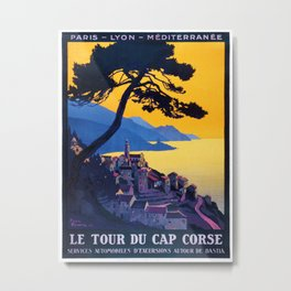 Le Tour Du Cap Corse, French Travel Poster Metal Print