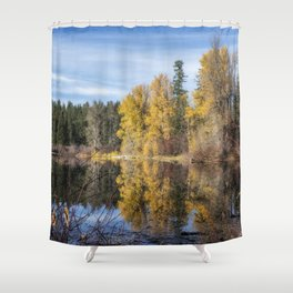 Autumn Makes an Appearance at Fish Lake Shower Curtain