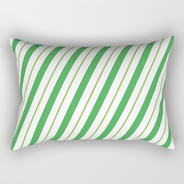 Green Peppermint - Christmas Illustration Rectangular Pillow