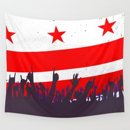 Washington DC Flag with Audience Wall Tapestry