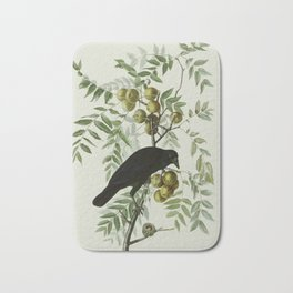 Vintage Crow Illustration Bath Mat