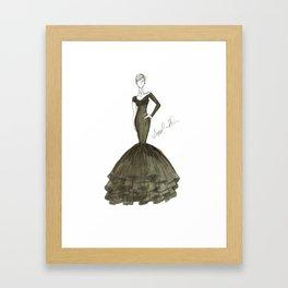 LBG: Long Black Gown Framed Art Print