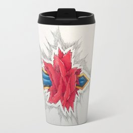 Sword piercing a Rose Travel Mug