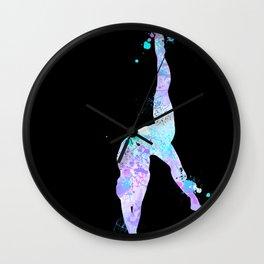 Paint Splash Gymnast Wall Clock