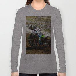 Round the Bend - Dirt-Bike Racing Long Sleeve T-shirt