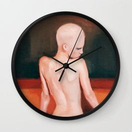 Nude Woman In Bathtub Wall Clock