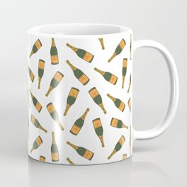 Champagne Bottle Pattern Coffee Mug