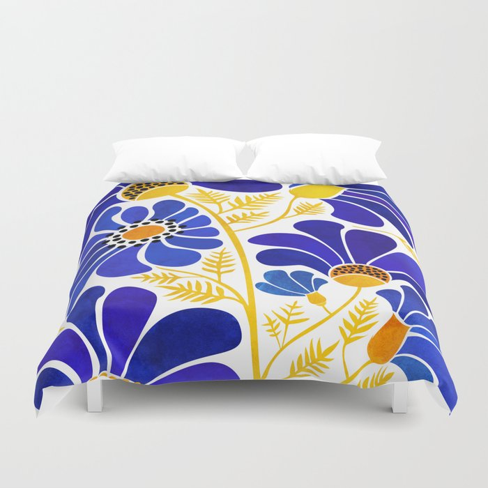 The Happiest Flowers Duvet Cover