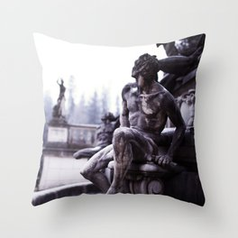 Nordic print, black white, wall art, sculpture, statues, abstract print, Eternity Throw Pillow