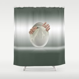Hatched? Shower Curtain