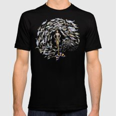 Mermaid in Monaco Black Mens Fitted Tee MEDIUM