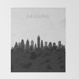 City Skylines: Philadelphia (Alternative) Throw Blanket