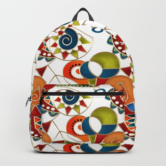 The art design. Carousel. Backpack