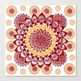 Light Orange and Maroon Mandalas Canvas Print