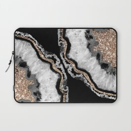 Yin Yang Agate Glitter Glam #8 #gem #decor #art #society6 Laptop Sleeve