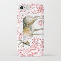 reindeer iPhone & iPod Cases featuring Reindeer by Naomi Bardoff